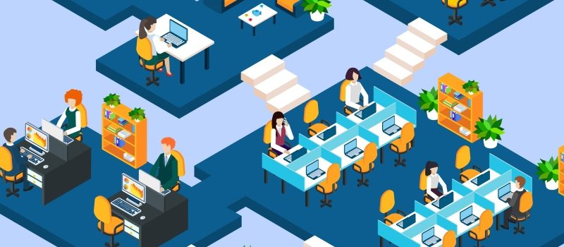 Multistory Office Isometric