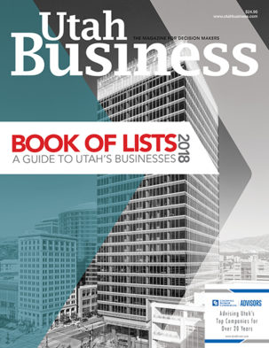 Utah Business Book of Lists 2018 Cover