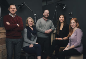Bradley Herbert, Director of Marketing; Starlee Basinger, Project Manager; Alison Andersen, Content Manager; Harrison Keith, Digital Marketing Manager; and Cara Jaffee, Graphic Designer