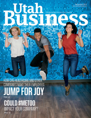 Utah Business December 2017 Cover