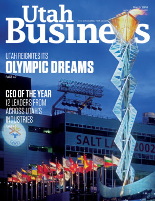 Utah Business March 2018 Cover