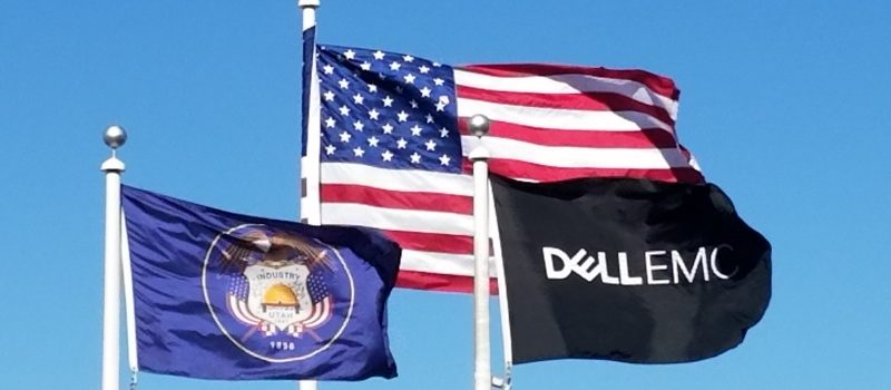 Dell EMC Flag with Utah and U.S. Flag