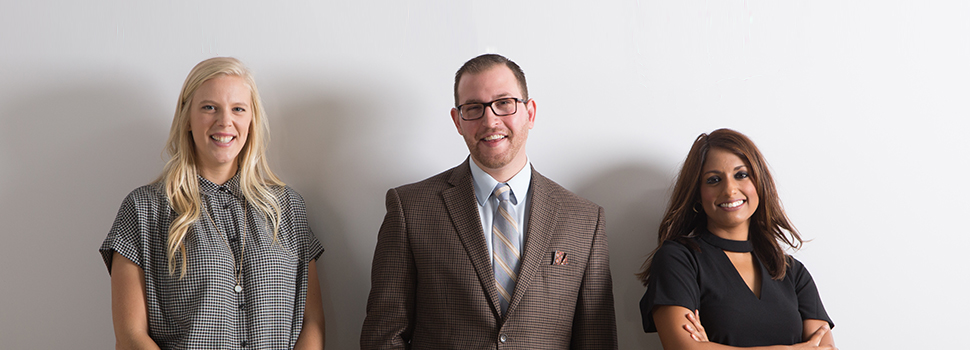 Morgen Baldwin, Michael Hopkins, Annie Leither, Utah Business 20 in their 20s