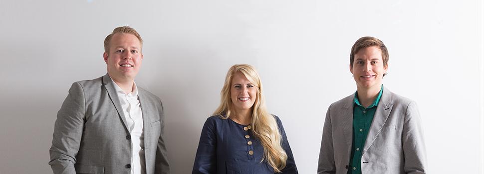 Nate Higgs, Kylee Champlin, Brady Hansen, Utah Business 20 in Their 20s