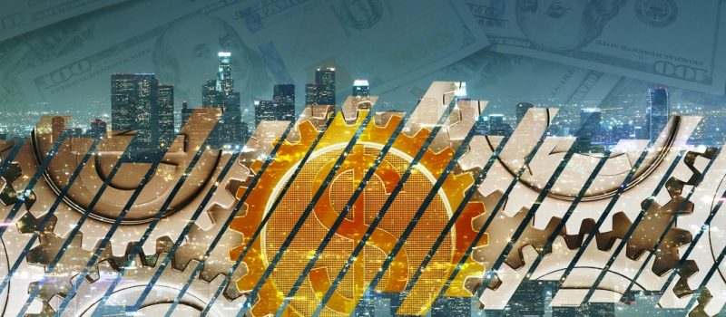 Bitcoin, Blockchain, Cryptocurrencies Graphic
