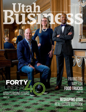 Utah Business February 2018 Cover
