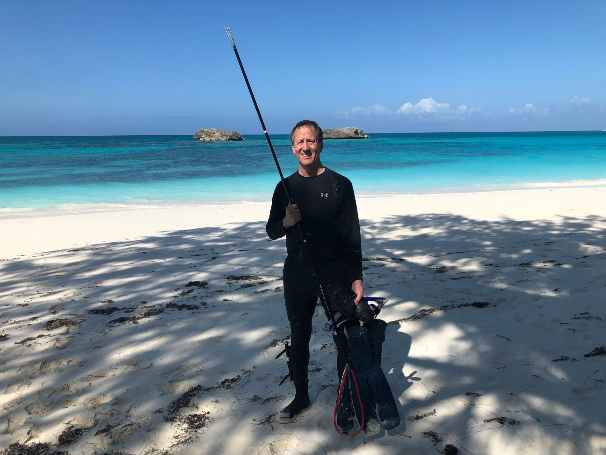 These three executives traded an all-inclusive resort for spearfishing for their food on desert islands, learn why they did it below.