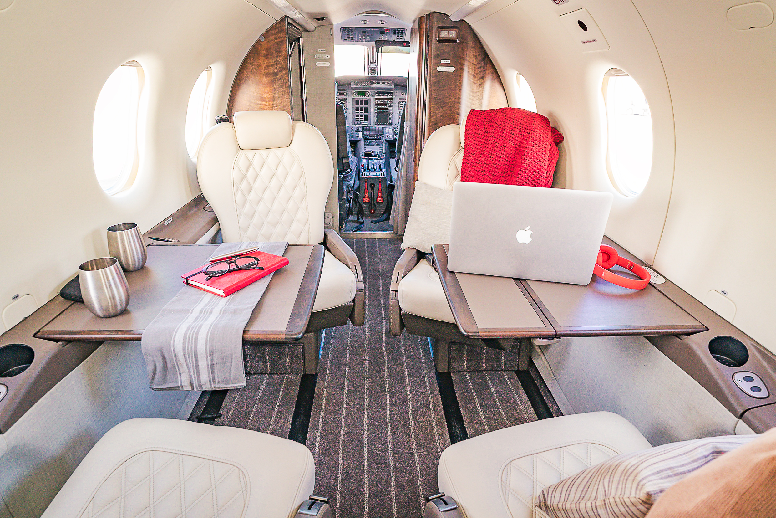 Why fly coach when you can have your board meetings on chartered flights at 38,000 feet?